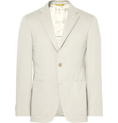 Canali - Grey Kei Slim-Fit Stretch-Cotton Twill Suit Jacket