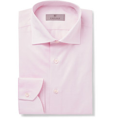 Canali - Pink Slim-Fit Cotton-Twill Shirt