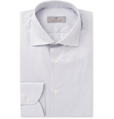Canali Slim-Fit Striped Cotton-Twill Shirt