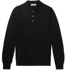Canali Slim-Fit Knitted Cotton Polo Shirt