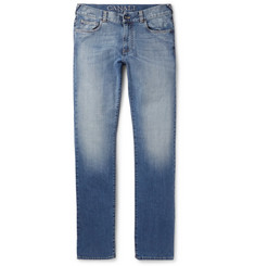 Canali Slim-Fit Washed Stretch-Denim Jeans