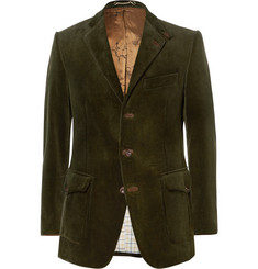Cordings Green Ripley Slim-Fit Corduroy Blazer