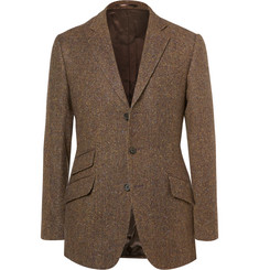Cordings Brown Rish Herringbone Donegal Wool-Tweed Blazer