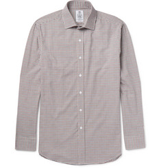 Cordings Bramham Spread-Collar Checked Brushed Cotton Shirt