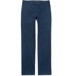 Cordings Slim-Fit Brushed Stretch Cotton-Drill Trousers