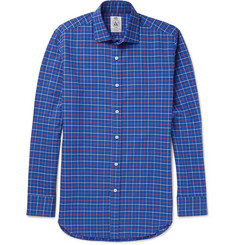 Cordings Pheasant Checked Brushed-Cotton Twill Shirt