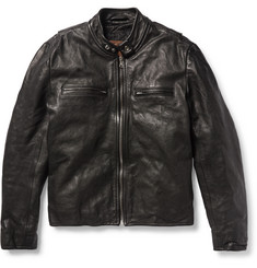 Jean Shop Full-Grain Leather Biker Jacket