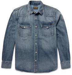 Jean Shop Washed-Denim Western Shirt