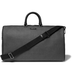 Ermenegildo Zegna Leather-Trimmed Herringbone Coated-Canvas Holdall
