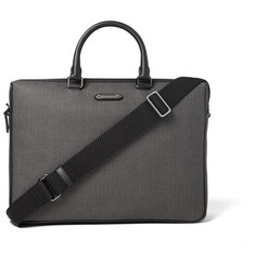 Ermenegildo Zegna - Leather-Trimmed Herringbone Coated-Canvas Briefcase