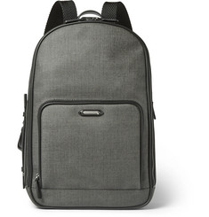 Ermenegildo Zegna Herringbone Coated-Canvas Backpack