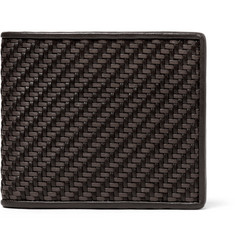 Ermenegildo Zegna - Pelle Tessuta Leather Billfold Wallet