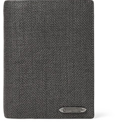 Ermenegildo Zegna Herringbone Coated-Canvas Passport Holder