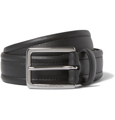 Ermenegildo Zegna 3cm Black Stitched Leather Belt