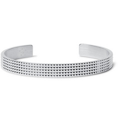Le Gramme - Le 23 Guilloché Studded Sterling Silver Cuff
