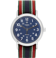 Timex Weekender Stainless Steel and Webbing Watch