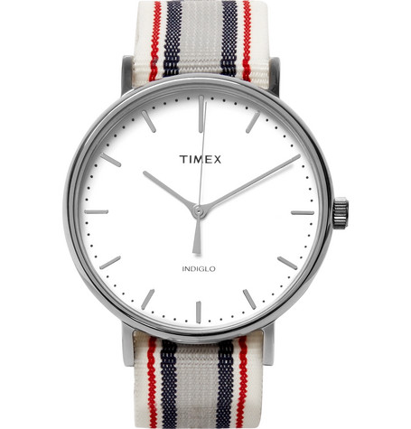 Timex Fairfiel Pavillion Stainless Steel and Webbing Watch