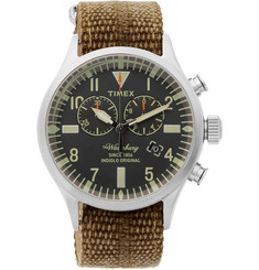 Timex Waterbury Stainless Steel and Webbing Watch