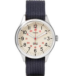 Timex Archive Waterbury United Stainless Steel and Webbing Watch