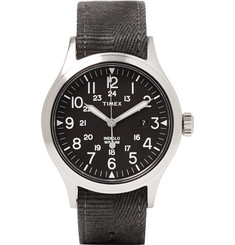 Timex Scout Brook Stainless Steel  and Stonewashed Webbing Watch