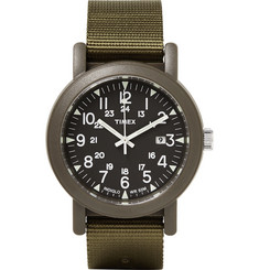 Timex Camper Resin and Grosgrain Watch