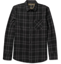 rag & bone Slim-Fit Checked Cotton and Wool-Blend Shirt