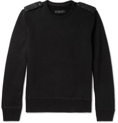 rag & bone Trooper Cotton-Blend Jersey Sweatshirt