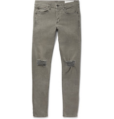 rag & bone Slim-Fit Distressed Stretch-Denim Jeans