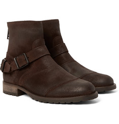 Belstaff - Trialmaster Burnished-Suede Boots
