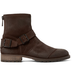 Belstaff Trialmaster Burnished-Suede Boots