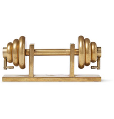 Foundwell Vintage Dumbbell-Shaped Gold-Tone Paperweight