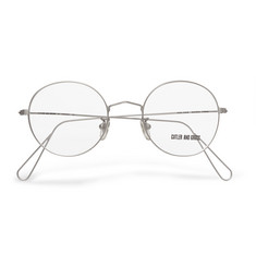 Cutler and Gross - 1991 Ltd Vintage Round-Frame Stainless Steel Optical Glasses