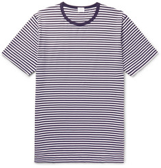 Sunspel Slim-Fit Striped Cotton T-Shirt