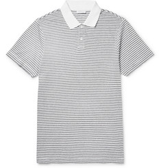 Sunspel Slim-Fit Striped Cotton-Jersey Polo Shirt