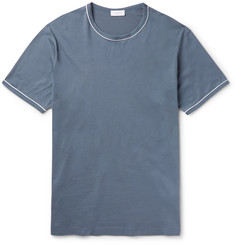 Sunspel Slim-Fit Contrast-Tipped Cotton-Jersey T-Shirt