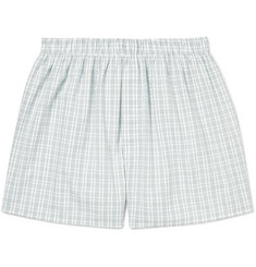 Sunspel Checked Cotton Boxer Shorts