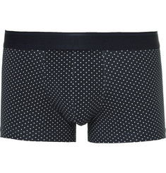 Sunspel Polka-Dot Stretch-Cotton Boxer Briefs