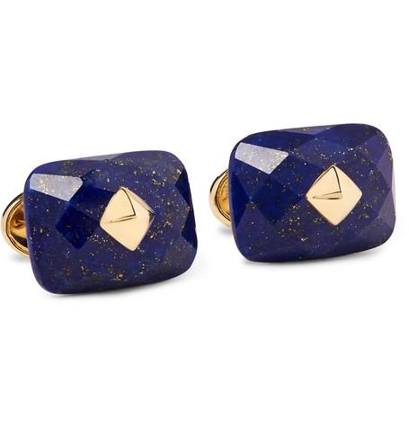 trianon male trianon 18karat gold lapis cufflinks gold