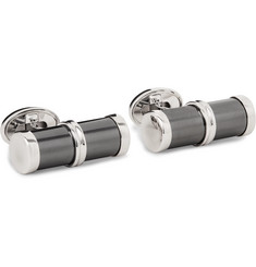 Trianon 18-Karat White Gold Hematite Cufflinks