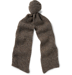 Inis Meáin - Ribbed Mélange Merino Wool and Cashmere-Blend Scarf