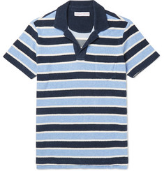 Orlebar Brown - Slim-Fit Striped Cotton-Terry Polo Shirt