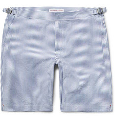 Orlebar Brown Dane Striped Cotton-Seersucker Shorts