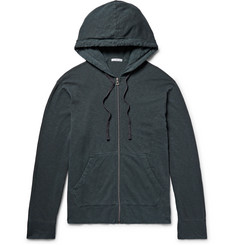 James Perse Garment-Dyed Loopback Supima Cotton-Jersey Zip-Up Hoodie