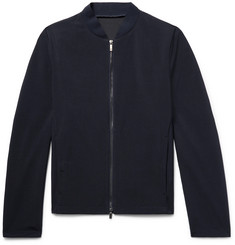 Giorgio Armani Slim-Fit Textured-Wool Bomber Jacket