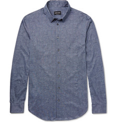 Giorgio Armani - Slim-Fit Printed Cotton Shirt