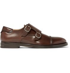McCaffrey Leather Monk-Strap Shoes