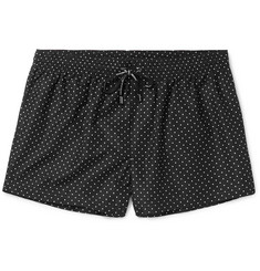 Dolce & Gabbana Mid-Length Polka-Dot Swim Shorts