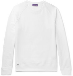 Ralph Lauren Purple Label Lux Fleece-Back Stretch-Cotton Jersey Sweatshirt