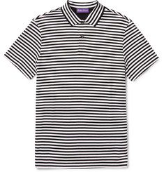 Ralph Lauren Purple Label - Striped Pima Cotton-Jersey Polo-Shirt