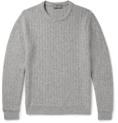 Ralph Lauren Purple Label Herringbone Cashmere Sweater